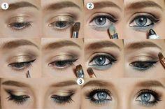 Me encanta este tutorial para maquillar los ojos en bronce y azul....he visto otros tutoriales parecidos paero este es clarísimo y el resultado precioso ¿Que te parece?  www.blogdebelleza.es