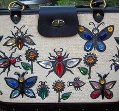 Enid Collins - Sacs 'Bijoux' - Toile, Perles et Pierres Imitation - Insectes