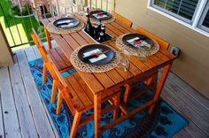 DIY balcony furniture // LLinaBC.com