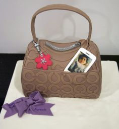 images of pocketbook cakes   Purse, shoe and fashion cakes » taupe-coach-purse-cake