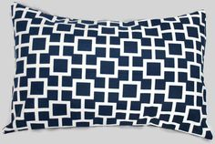Modern Logic Indoor/Outdoor Accent Pillow. $25.00, via Etsy.