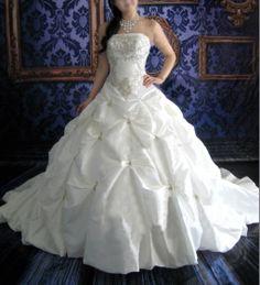 Bridal Wedding Vintage Straight Strapless Neckline Ball Gown Wedding Dress - Custom Made in Moonlit Bridals