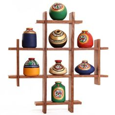 Indian Pottery Terracotta Pots Decorated with Warli Art on it. Brings Fresh and . Indian Pottery T Pottery Painting Designs, Pottery Designs, Paint Designs, Pottery Art, Bottle Painting, Bottle Art, Bottle Crafts, Clay Art Projects, Clay Pot Crafts