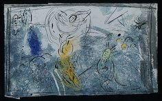 Moses with the Burning Bush by @artistchagall