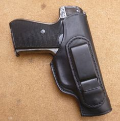 Custom made leather IWB clip holster for Sauer 38H - modern carry options for classic pistols from makeitjones.co.uk