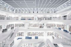 World Library, City Library, Library Design, Stuttgart Library, Stuttgart Germany, Living Room Small, Oasis, Library Architecture, Awesome