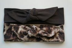 Top Knot Headband.  Cotton Knit Headband.  Baby by BeeMineSunshine
