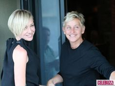 Ellen DeGeneres and Portia de Rossi arrive for dinner at Craig's #Restaurant in Los Angeles on August 27, 2012.