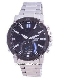 Stainless Steel Case and Bracelet, Quartz Movement, Mineral Crystal, Black Dial, Analog Digital Display, Double LED light. Casio Digital, Casio Edifice, Smartphone, Used Watches, Watches For Men, Stainless Steel Bracelet, Stainless Steel Case, Countdown Timer, Watch Model