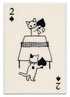 Pottering Cat 2 of Spades