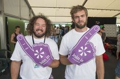 Adam Rhys Jones and Geoff Parling- a big thanks to these guys for showing us their support at the biggest volunteering event Go Local. For more info visit our website at www.joininuk.org