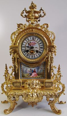 Vintage French Clock | home antique clocks antique french clocks item number 264296