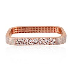 Solid Rose Gold Real Ice Diamond Pave Bangle Bracelet Wedding Jewelry & -Adornale Jewelry is Handmade Designer Jewelry. About the ADORNALE Jewelry. Diamond Necklace Set, Diamond Bracelets, Gold Bangles, Diamond Jewelry, Jewelry Bracelets, Jewelry Box, Stone Jewelry, Bracelet Designs, Diamond Design