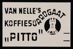 """Sjabloon Van Nelle's """"Pitto"""" koffiesurrogaat"""