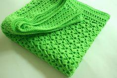 Crochet Baby Blanket Green baby Blanket Baby by BambinoStore