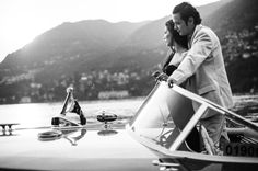 Engagement photo session in lake Como, Italy by WHITE fashion wedding photographer
