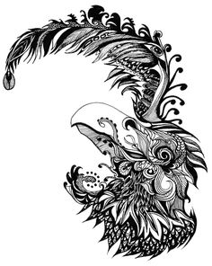 """""""Feathered"""" To New Waves Abstract Drawings, Doodle Drawings, Doodle Art, Zen Words, Coloring Books, Coloring Pages, Color Pencil Art, Zentangle Patterns, Zentangles"""