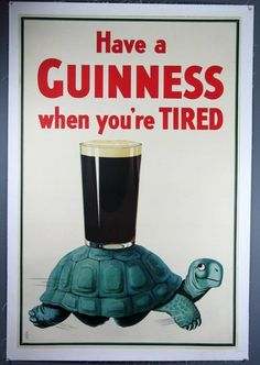 Have A Guinness When Youre Tired Original Vintage Ad Poster by Gilroy Turtle | eBay