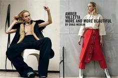 September 2012, Amber Valletta. Photos by Craig McDean - click on the photo to see the complete story