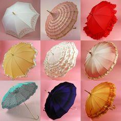 Vintage Wedding Umbrellas