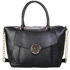 Charming Michael Kors Fulton Leather Large Black Satchels Make You To BeCrazy