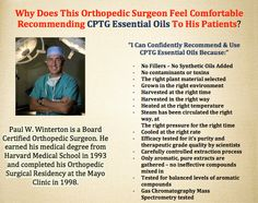 Doctors & hospitals are using essential oils.