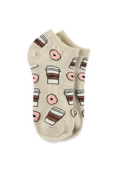 Coffee and Donuts Ankle Socks | Forever 21 - 2000114038