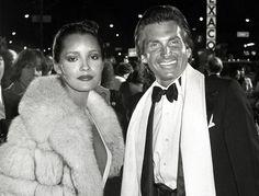 George Hamilton with Barbara Carrera in New York