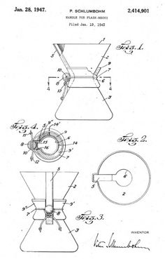 Drawings of the Chemex patent, 1947.