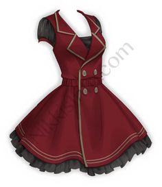 Manga Clothes, Drawing Clothes, Clothing Sketches, Dress Sketches, Fashion Design Drawings, Fashion Sketches, Vestidos Anime, Red Fashion, Fashion Dresses
