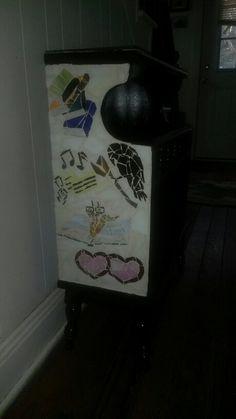 Mosaic Bookcase side #1