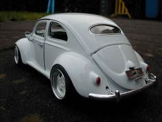 Volkswagen Kafer coccinelle white wheels porsche Burago diecast ...