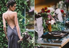 Mosaic-themed fall wedding inspiration | Photo by Sahara Coleman | Read more - http://www.100layercake.com/blog/?p=82012