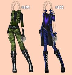[closed] Auction camouflage Outfits famale 191-192 by YuiChi-tyan.deviantart.com on @DeviantArt