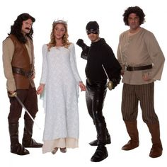 Princess Bride Halloween costumes for couples, group, Family, Dog movie. There are quite a number of choices when it comes to the Princess Bride movie costumes. 80s Themed Costumes, 80s Movie Costumes, Best 80s Costumes, Halloween Bride Costumes, Family Costumes, Group Costumes, Adult Costumes, Halloween Party, Halloween Ideas