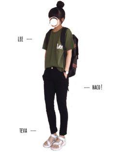 URBAN RESEARCH DOORS WOMENSのTシャツ・カットソー「Lee×DOORS-natural- Print Pocket-T」を使ったtumのコーディネートです。WEARはモデル・俳優・ショップスタッフなどの着こなしをチェックできるファッションコーディネートサイトです。
