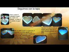 tutorial elaboración uno de los modelos de cajas orientales, caja en forma de corazón