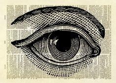 Human Eye Dictionary Art Print