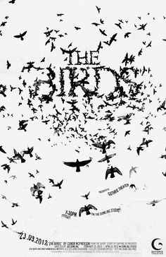 "Another great poster for Hitchcock's ""The Birds"""