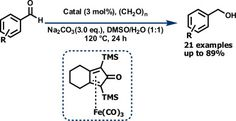 Iron-catalyzed reduction of aromatic aldehydes with paraformaldehyde and H2O as the hydrogen sourcedoi:10.1016/j.tetlet.2015.01.099