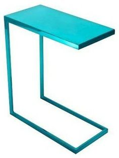 Cromatti Armavi Drinks Table in Turquoise - Contemporary - Side Tables And Accent Tables - Chairish