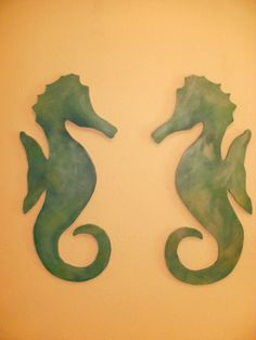 Seahorse Art / painted wall hangings by itscandygirl on Etsy, $160.00