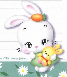PASCOA - Marlucia Motta - Picasa-Webalben Baby Animal Drawings, Cute Drawings, Bunny Drawing, Kids Clay, Bunny Party, Korean Stationery, Easter Pictures, Cute Cartoon Animals, Cute Cartoon Wallpapers