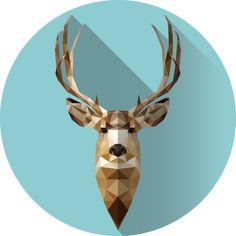 Mule Deer Low Poly Portrait ---> http://dewickeyr.deviantart.com/art/Mule-Deer-Low-Poly-Portrait-569824178  Instagram Version, @dewickeyr ---> https://www.instagram.com/p/9lfl1-Bgp1/?taken-by=dewickeyr