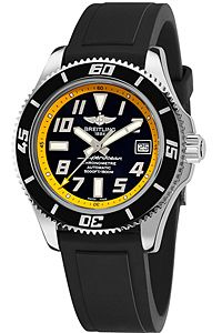 Breitling Superocean Abyss Black & Yellow Dial Watch
