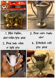 Easy As DIY: DIY Harry Potter Ornament Series Part 3: Harry's Glasses, Wizard Money, Ravenclaw Diadem, Goblet of Fire, Triwizard Cup, Extendable Ear