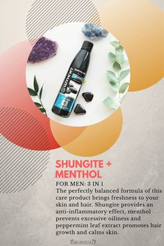 Organic shungite cosmetics for strong and shiny hair Peppermint Leaves, Shiny Hair, Hair Growth, Cruelty Free, Your Skin, Mineral, Hair Care, Finding Yourself, Healing