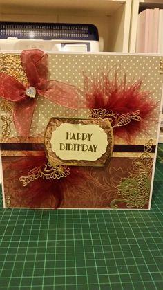 Art deco style birthday card