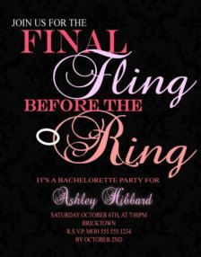 Bachelorette Party Invitations & Ideas