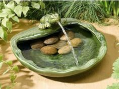 Smart Garden Ceramic Frog Water Fountain